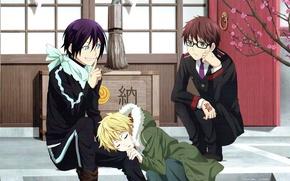 Картинка noragami, Yato, Yukine, Бездомный бог, Kazuma