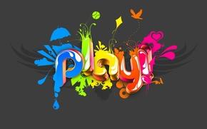 Картинка цвет, минимализм, play