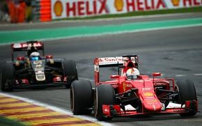 Картинка Lotus, Ferrari, Бельгия, formula 1, 2015