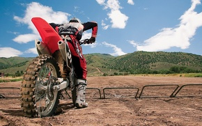 Картинка Колесо, Холмы, Мотоцикл, Трасса, Гонки, Мотокросс, Moto Cross, Заезд