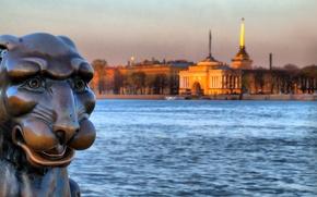 Картинка река, Адмиралтейство, Нева, сфинкс, Санкт Петербург