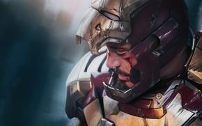 Картинка супергерой, art, тони старк, tony stark, iron man 3, железный человек 3
