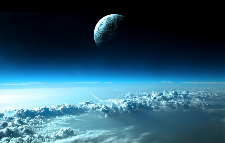 Обои Ракета, Облака. Космос foto 7