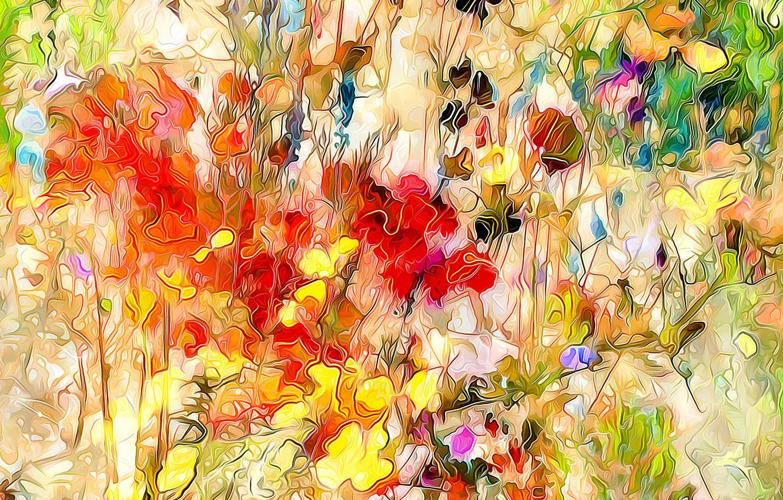 Обои луг, цветы. Абстракции foto 19