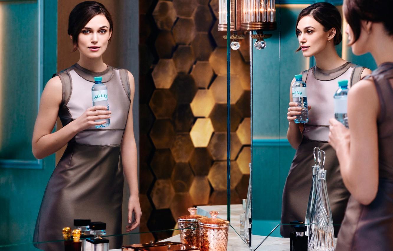 Фото обои Кира Найтли, Keira Knightley, фотосессия, бренд, минеральная вода, Voeslauer