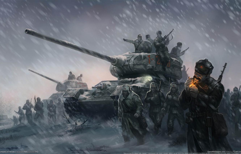Фото обои зима, обои, солдаты, герои, метель, soldiers, поле боя, танки, Великая Отечественная война, game wallpapers, Company …