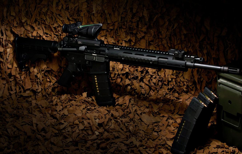 Фото обои оружие, винтовка, карабин, Ruger, полуавтоматическая, SR-556E