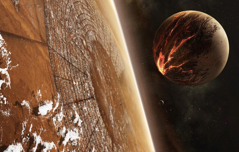 Обои спутник, планеты, катастрофа. Космос foto 8