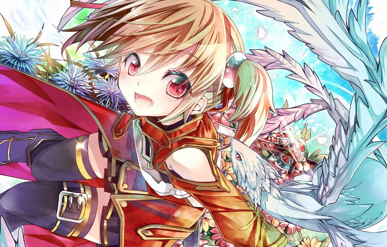 Фото обои anime, art, sword art online, Silica, Pina