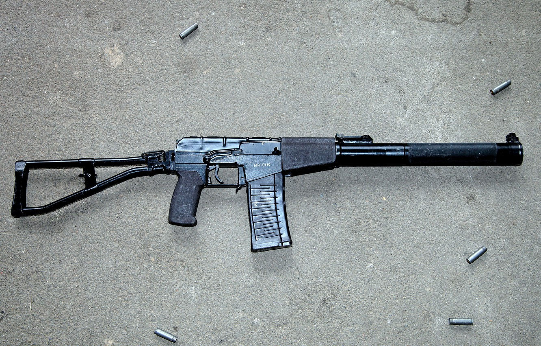 Фото обои асфальт, автомат, патрон, automatic, винтовка, гильзы, special, винтовки, sniper, silent, Российский, rifle, калибр, ВСС, вал, …