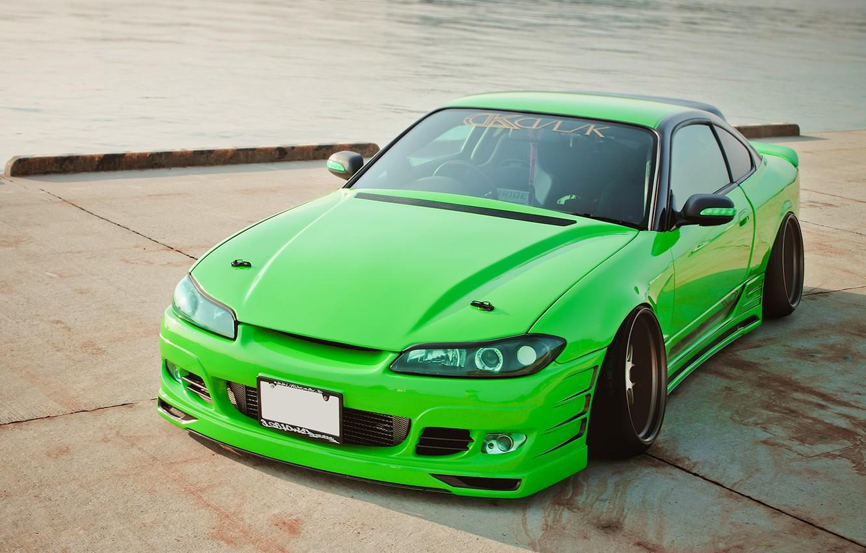 Фото обои авто, пирс, салатовый, ниссан, tuning, сильвия, Nissan Silvia S15