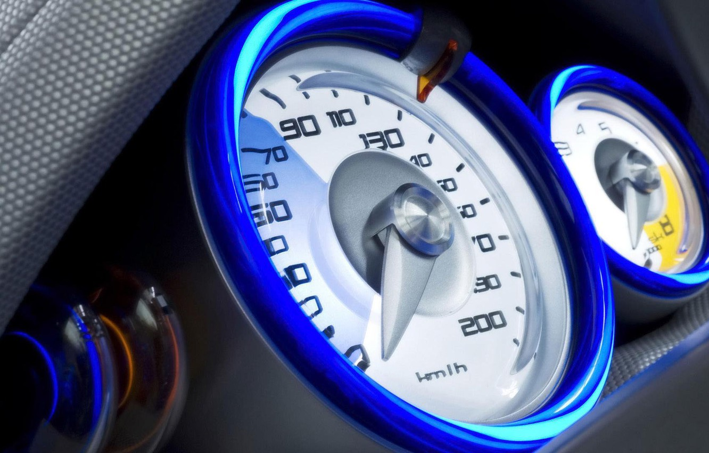 Фото обои скорость, speed, спедометр, французский автомобиль, Renault Kangoo