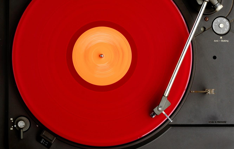 Фото обои макро, музыка, фон, Ди-джей, вертушки, винил, пластинка, macro, vinyl