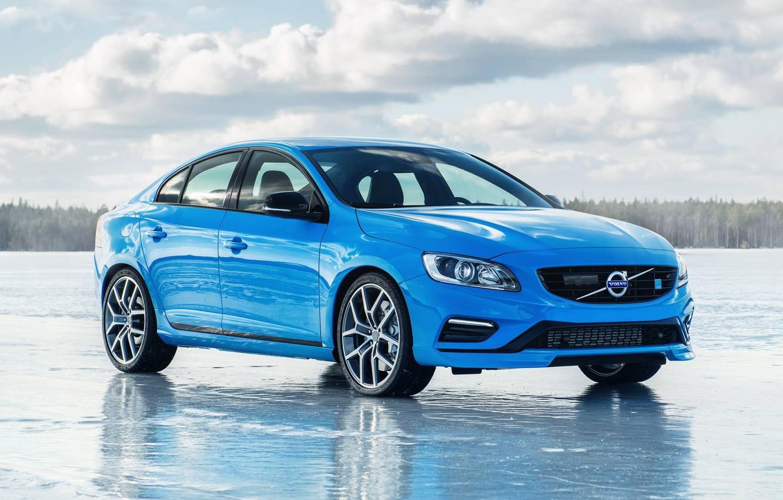 Фото обои Volvo, Голубой, Вольво, Лёд, S60, Polestar, С60