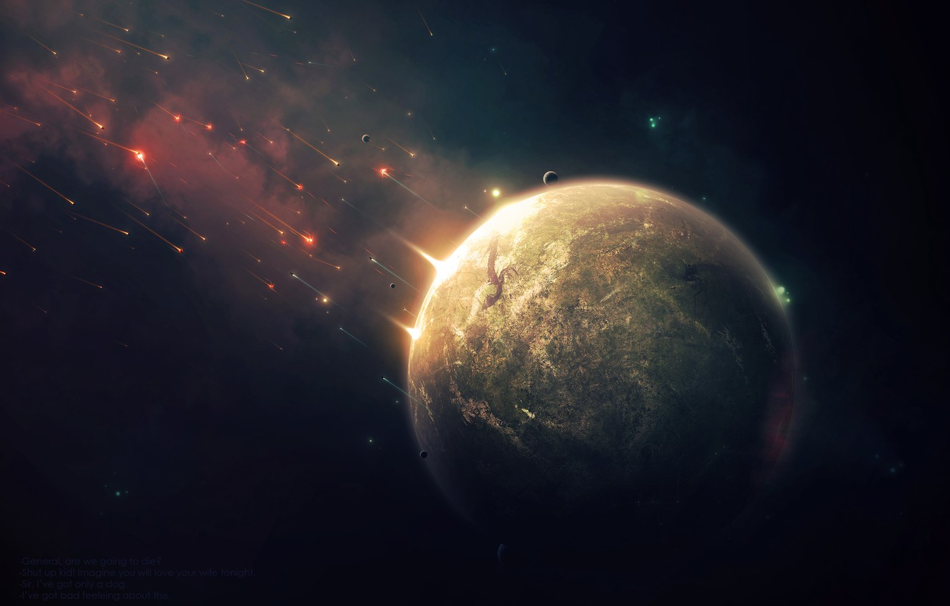 Фото обои Star, war, planet, Brown, Sci Fi, dry, attack and defense