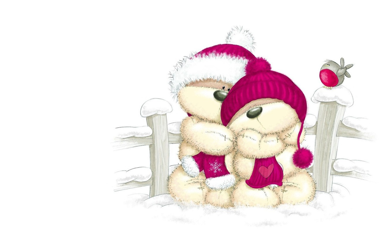Картинки с мишкой на новый год