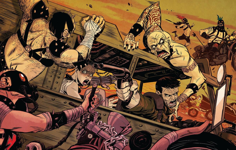 Фото обои Mad Max, Fury Road, Безумный Макс: Дорога ярости