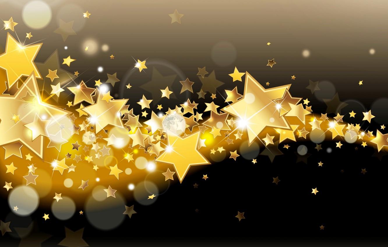 Фото обои звезды, сияние, фон, золото, блеск, golden, glow, background, stars, sparkle, glitter