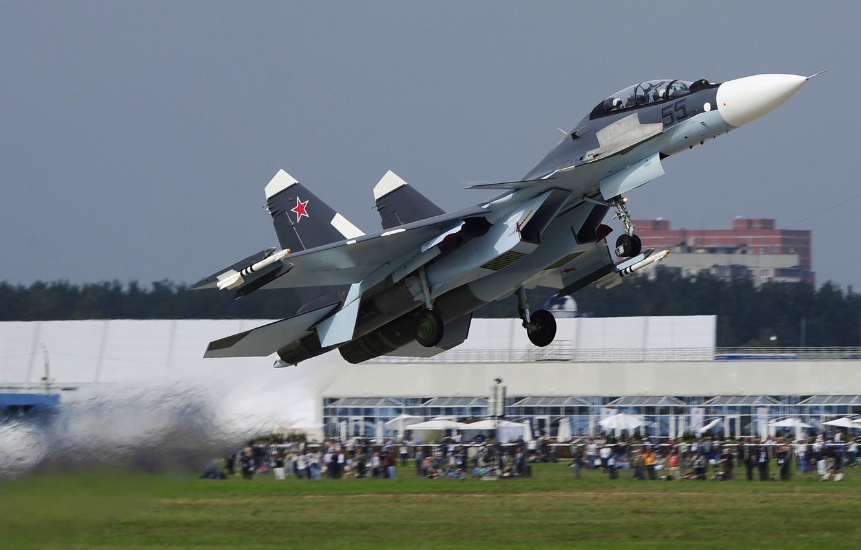 Обои Sukhoi, Su-30sm, истребитель, многоцелевой. Авиация foto 12