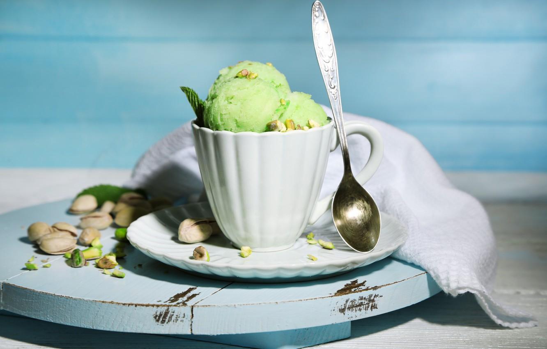 Картинка фисташковое мороженое
