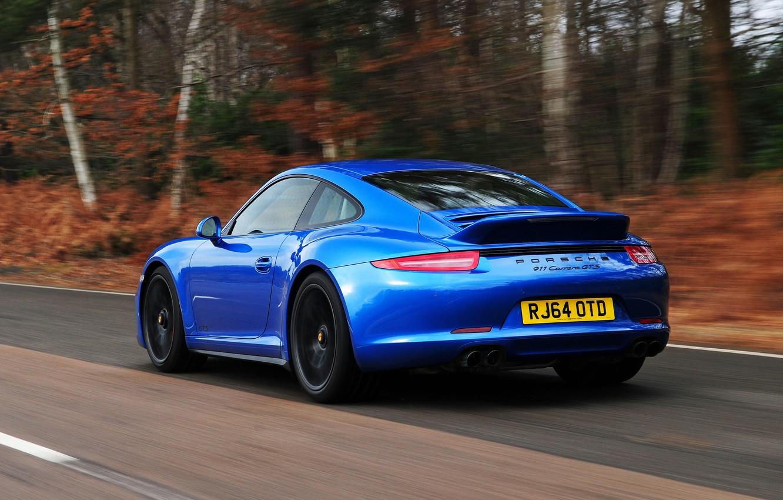 Фото обои 911, Porsche, автомобиль, порше, Coupe, задок, выхлопы, Carrera 4 GTS