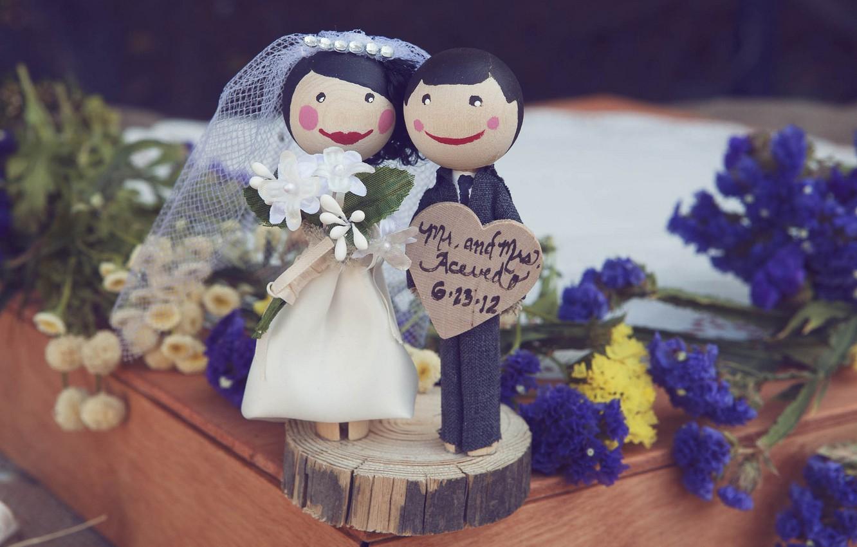 Фото обои пара, невеста, свадьба, жених