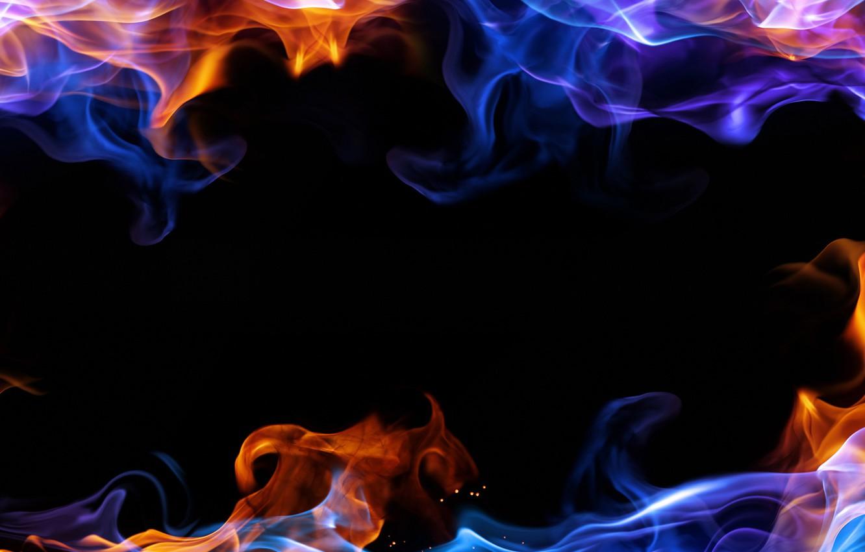 Фото обои цвета, дым, черный фон