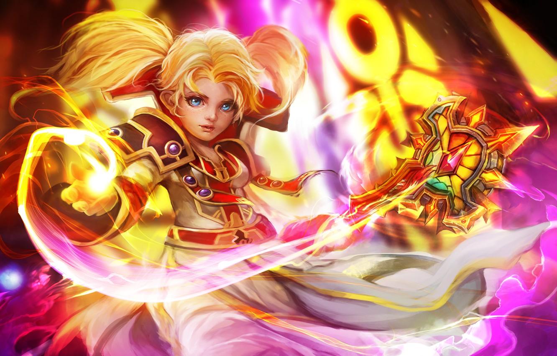 Фото обои World of Warcraft, Warcraft, гном, blizzard, art, gnome priest