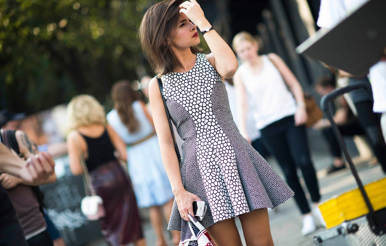 Фото обои город, платье, new-york, street style