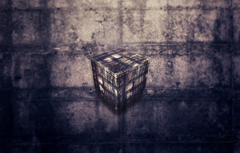 Обои потеки, швы, куб, грязь. Рендеринг foto 6