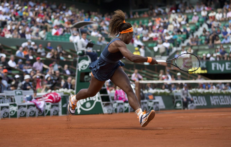 Фото обои USA, Удар, Теннис, Williams, Tennis, Roland Garros, kick. Serena, Ролан Гарос, ВТА, Серена Уильямс, WTA, …