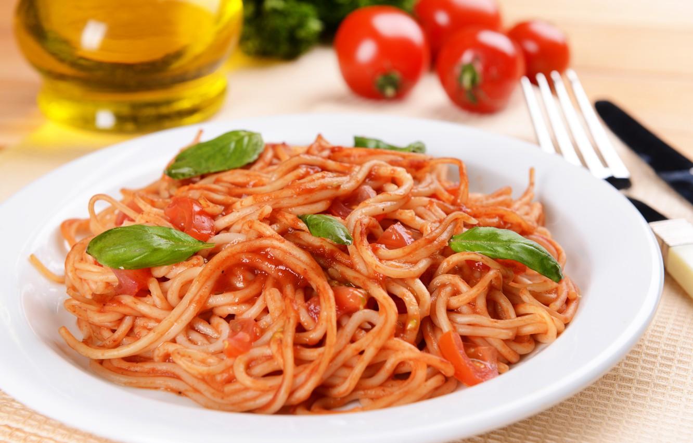 Фото обои зелень, грибы, еда, томат, food, mushrooms, паста, greens, tomato, pasta