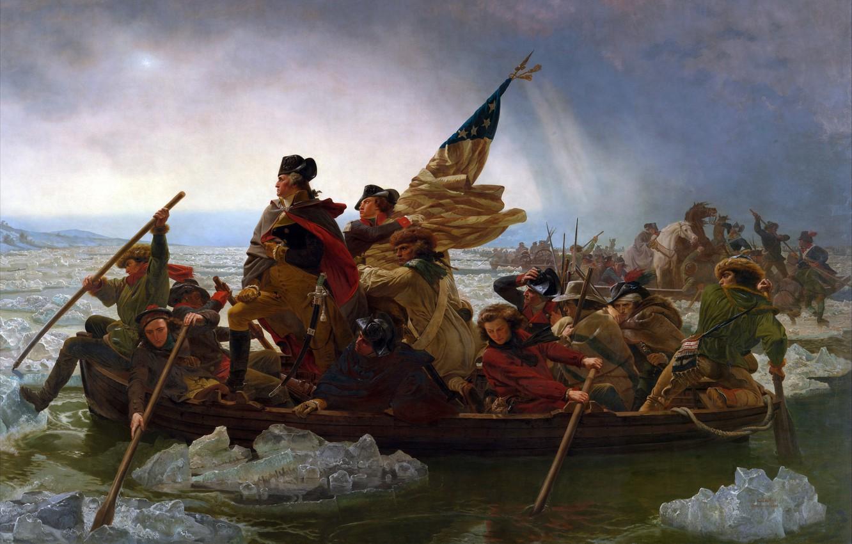 Фото обои река, Вашингтон, Делавэр, Эмануэль Лойце