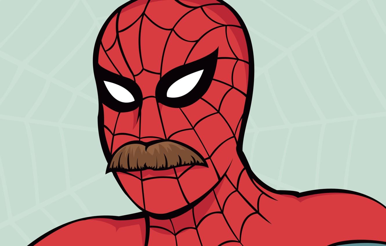 Фото обои усы, Паутина, Комикс, Web, Spider-man, moustache, Peter Parker, Питер Паркер, Человек-Паук, Comic, Выпуск: Усатые герои …