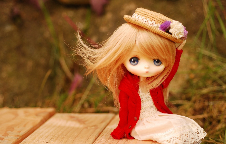 Фото обои игрушка, кукла, шляпка