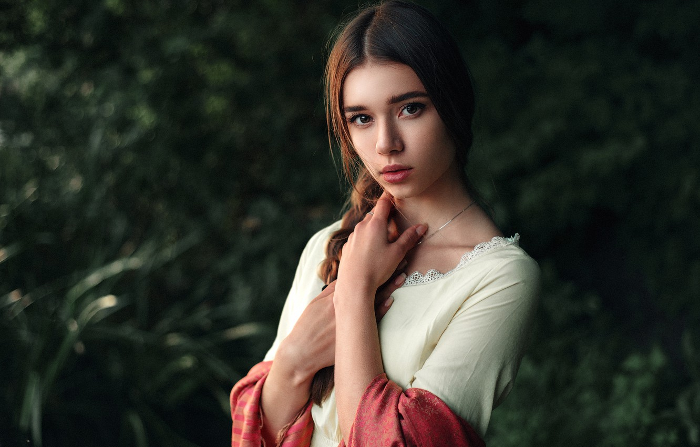 Фото обои Girl, Light, Beautiful, Julia, Portrait, Natural, Maks Kuzin