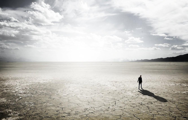 Фото обои свет, одиночество, пустыня