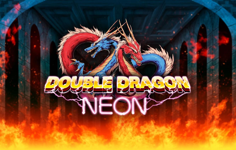 Фото обои огонь, драконы, Игры, fire, games, double dragon neon, double dragon
