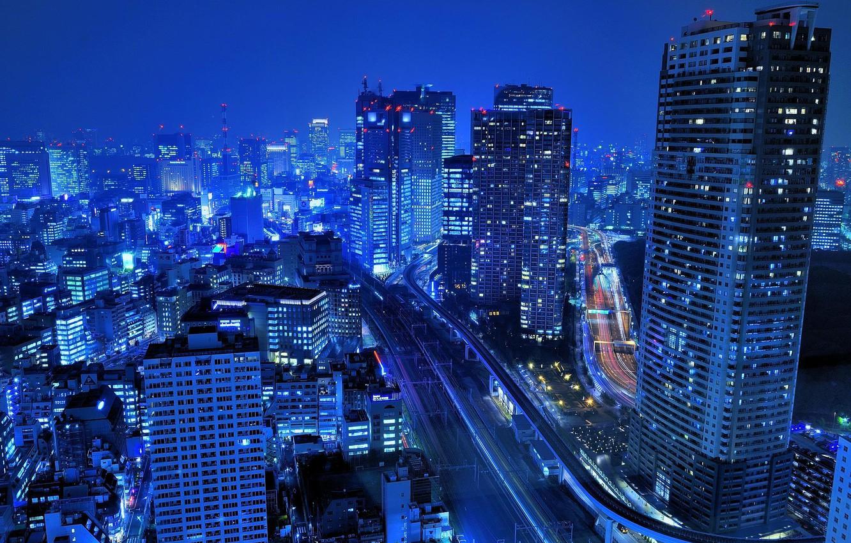 Обои ночь, Япония. Города foto 17
