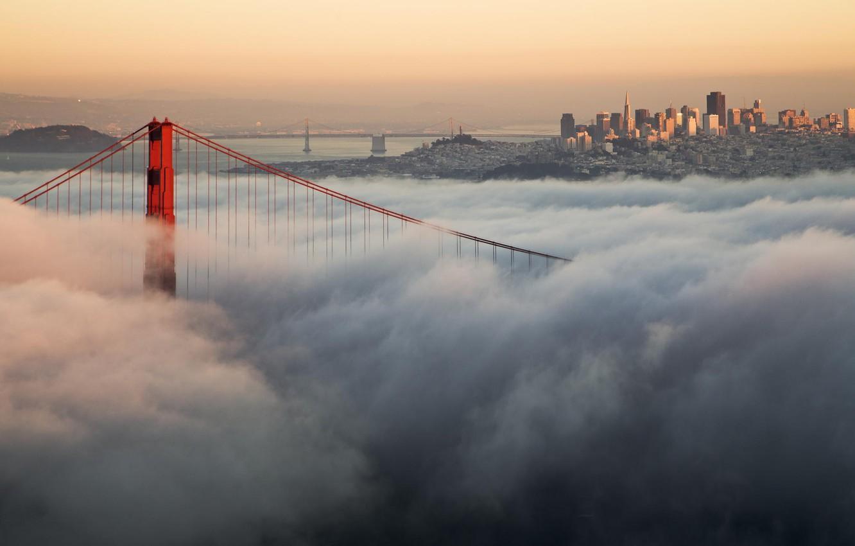 Обои сан - франциско, сша, golden gate bridge, туман. Города foto 13