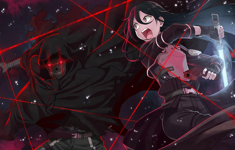 Фото обои оружие, Sword Art Online, Kirito, Kirigaya Kazuto, Gun Gale Online, Shouichi Shinkawa