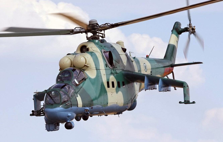 Обои ГШ-30К, ВВС Нигерии, Модернизированный вариант Ми-24, Ми-35П, Ударный вертолёт, экспортный вариант Ми-24П. Авиация foto 6