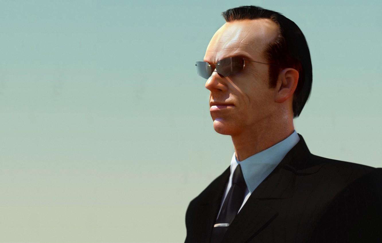 Обои the matrix, очки, матрица, hugo weaving, agent smith. Фильмы foto 8
