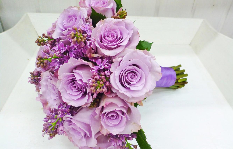 Фото сиренево розовых букетов этом