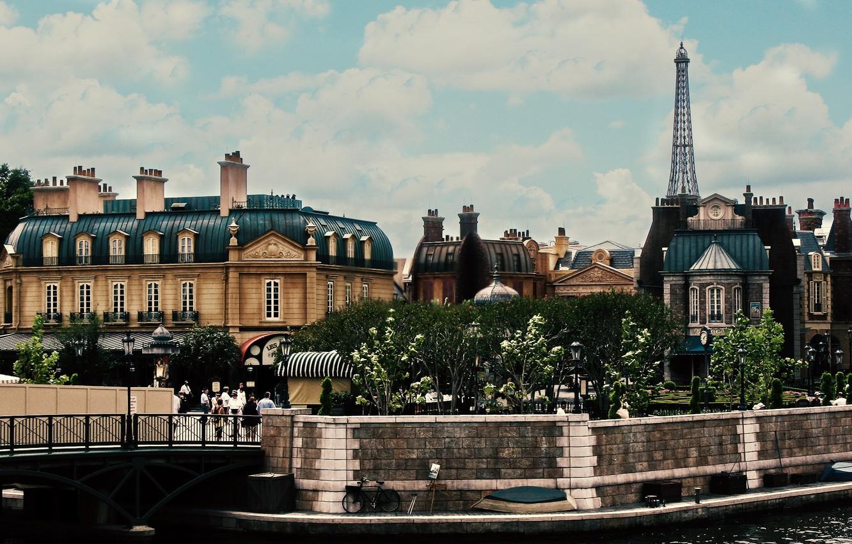 Обои Облака, здания, набережная, красота. Города foto 12