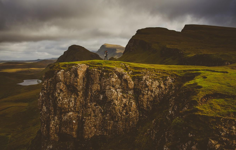 Фото обои природа, люди, горизонт, влюбленные