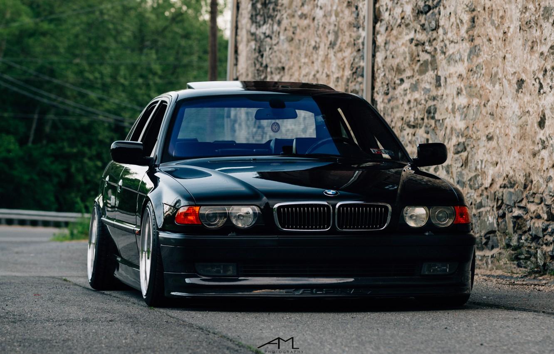 Фото обои BMW, stance, E38