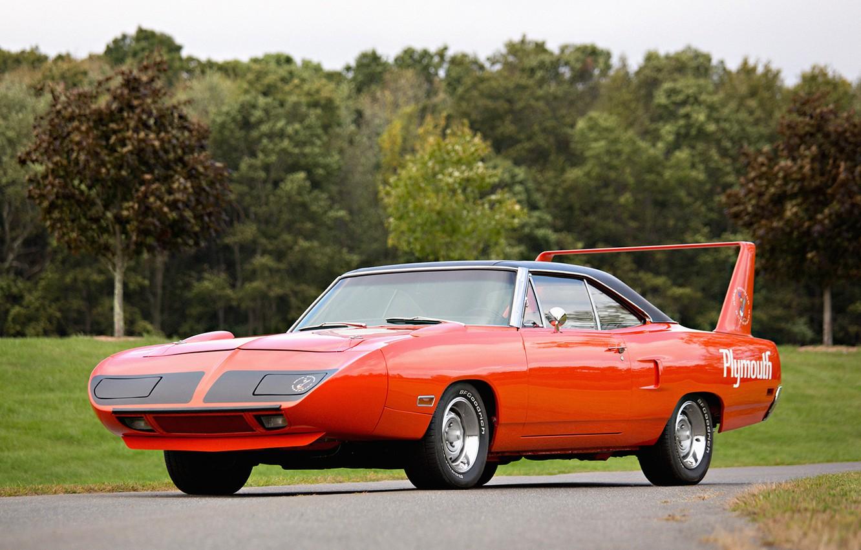 Фото обои red, Plymouth, Muscle car, плимут, Superbird, Road Runner