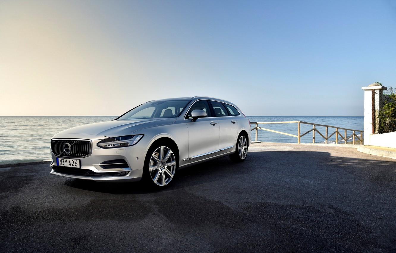 Фото обои Volvo, вольво, универсал, V90