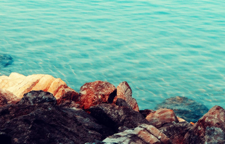 Фото обои море, природа, камни, берег, sea, nature, stones